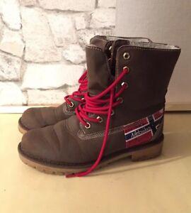 angemessener Preis weit verbreitet für die ganze Familie Details zu Nebulus Damen Mädchen Stiefel Stiefelette Schuhe Halbschuhe  Boots Große 37 Braun