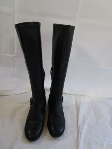 10m boot maat wedge verborgen zwart leer 9 Boutique HcfWUq07Y