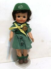 VINTAGE 1965 EFFANBEE FLUFFY GIRL SCOUT DOLL w/ Uniform & Official Badge.