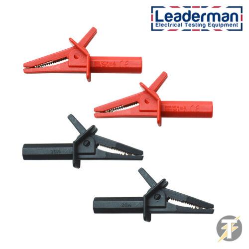 Ldm118 600 Volt x2 Rosso e Nero Coccodrillo Clip per multimetri e clampmeters