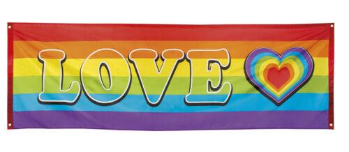 environ 0.76 m Rainbow Love Giant Tissu Drapeau Bannière fête//événement Décoration 7 ft environ 2.13 m X 2.5 FT - Neuf