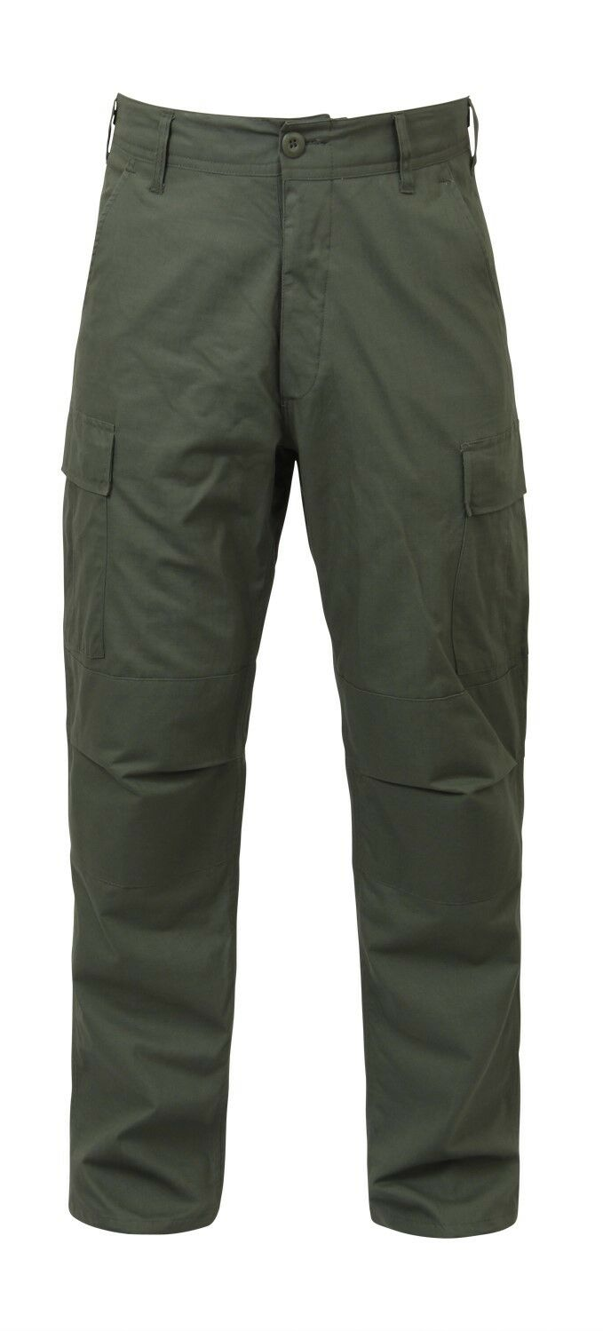 Olive Drab Military BDU Cargo Rip Stop Fatigue Pants redhco 5935