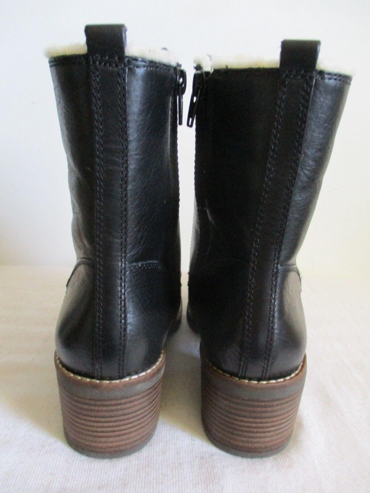 Lucky Brand cambreen Con Cordones Cuero Negro botas De De De Piel Sintética Cremallera Lateral 8 EE. UU. nuevo 7db18c