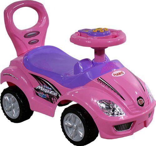 Spielzeugauto ARTI 382A Mega Car Standard Rosa Rosa Lauflernwagen Kinderfahrzeug