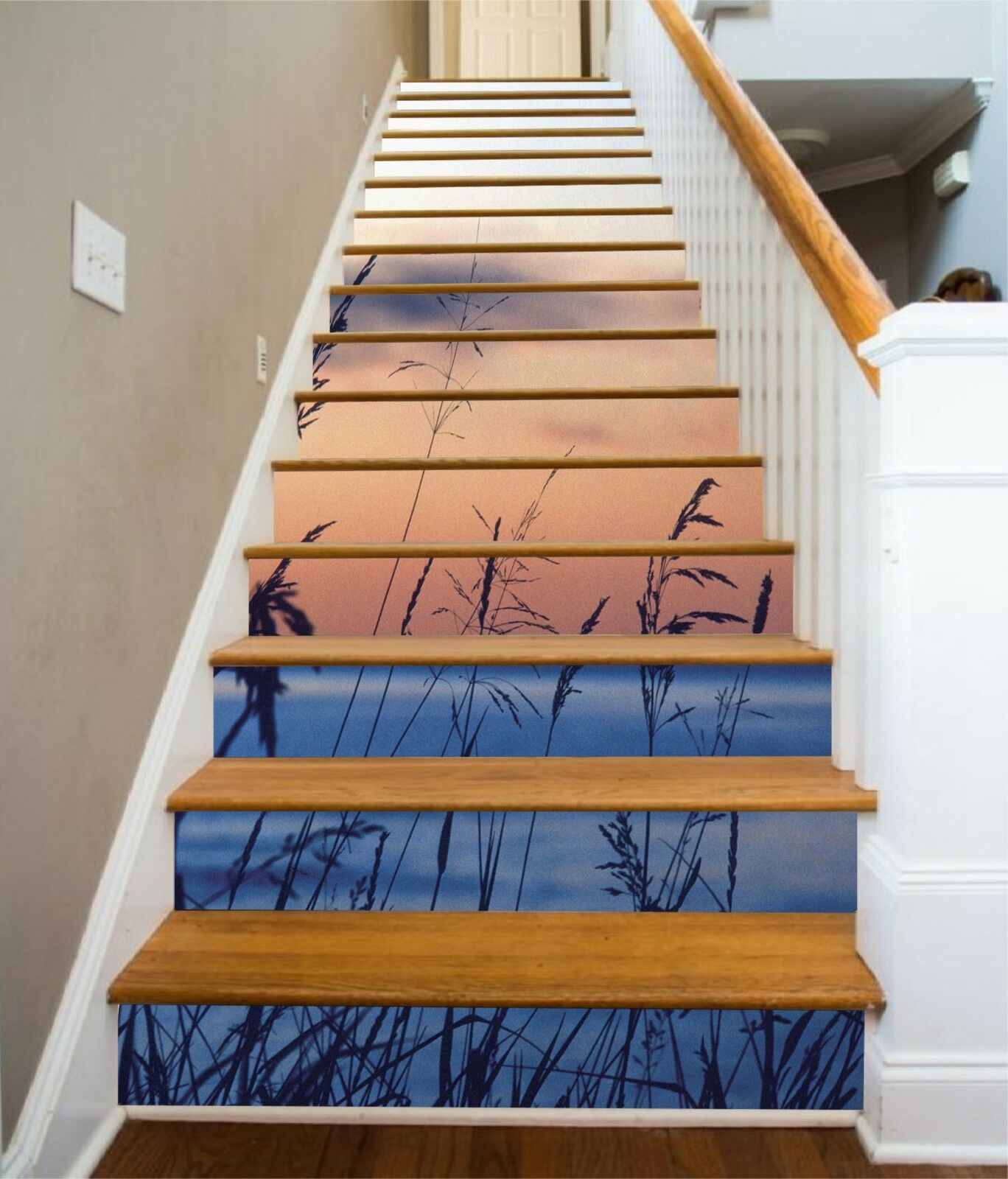 3D Teed River Stair Risers Decoration Photo Mural Vinyl Decal Wallpaper US