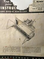 Montgomery Ward Midland Tractor Sickle Mower Implement Owner & Parts Manual 4pg