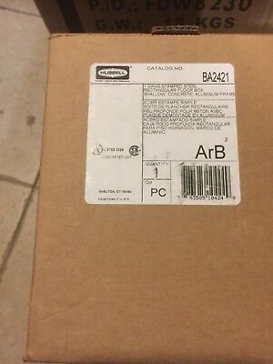 NEW Floor Box,Steel and Aluminum,1-Gang HUBBELL WIRING DEVICE-KELLEMS BA2421