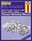 BMW 316, 320 & 320i Owner's Workshop Manual: 1975-83 by J. H. Haynes, A. K. Legg (Paperback, 2012)