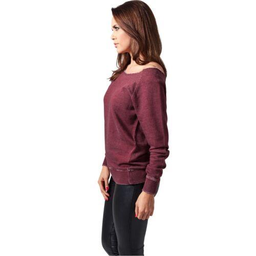 URBAN CLASSICS Ladies Burnout Open Edge Crew sweater//maglione