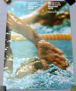 Montreal-76-Summer-Olympic-Official-Swimming-Poster