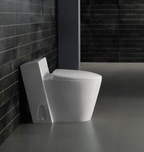 One Piece Toilet - Modern Bathroom Toilet - Dual Flush Toilet -Monte ...