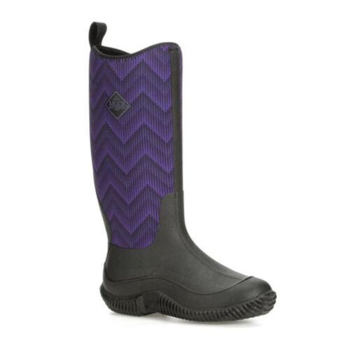 Muck Boots HAW-5WAV Women/'s Hale Boots Black//Purple Chevron