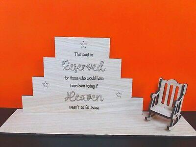 Diligente Oak Sedile Riservato Nozze Matrimonio Memorial Segno Di Blocco Con Poltrona Wc1088-mostra Il Titolo Originale