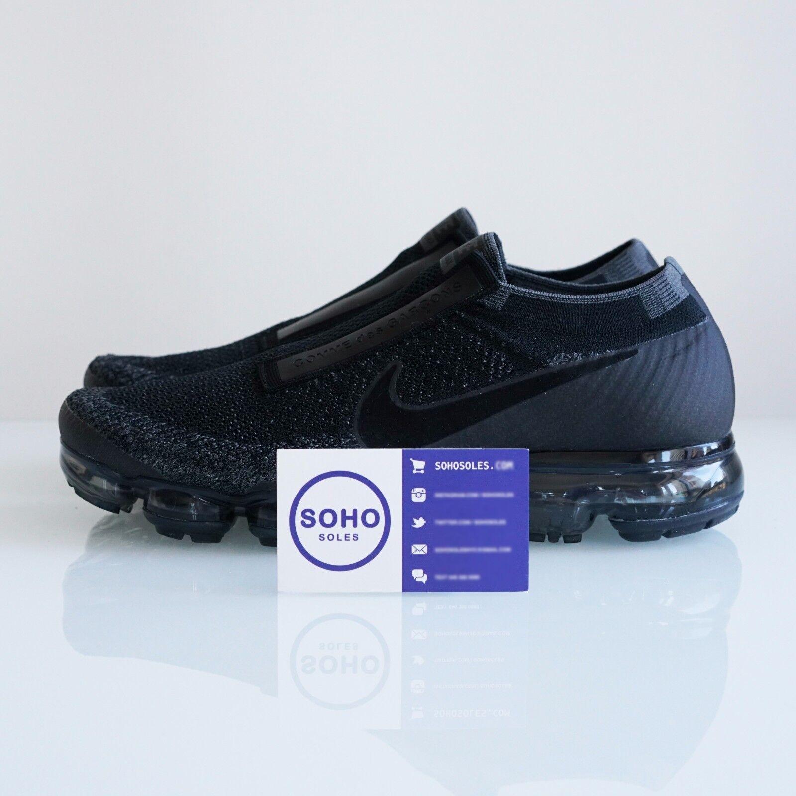 CDG x Triple Nike Air Vapormax FK Triple x Black Laceless 924501-001 Comme Des Garcons 1b5e41