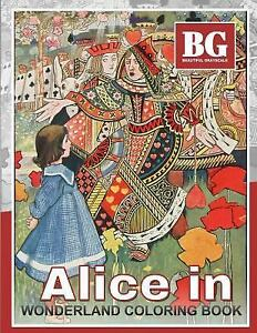 Details about Beautiful Grayscale Alice in Wonderland Coloring Book : Fun  and Realistic Pho...