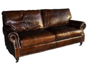 vintage leder design dreisitzer klassiker sofa wales antik ebay. Black Bedroom Furniture Sets. Home Design Ideas