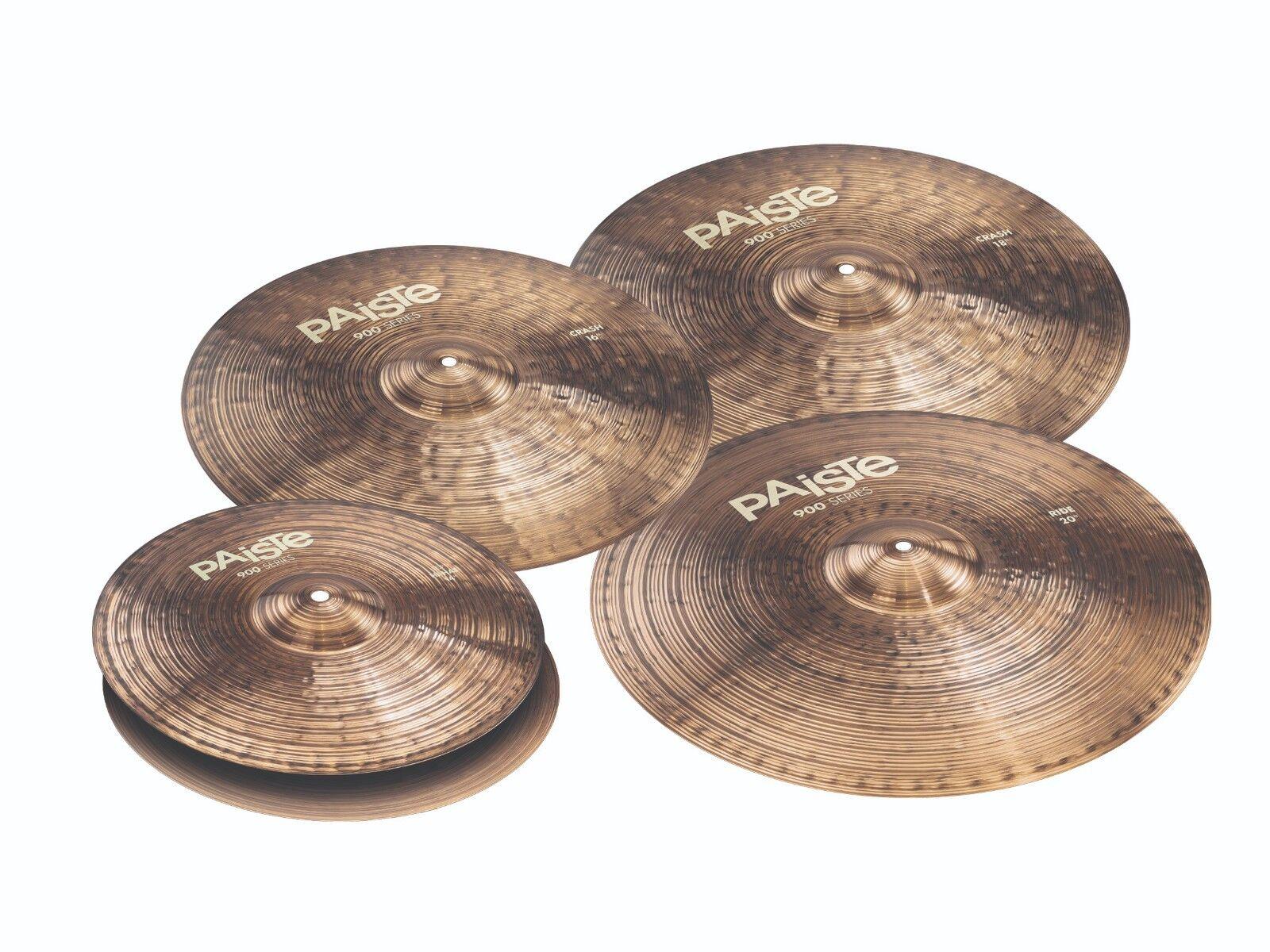 Paiste 900 Series 5 Piece Universal Cymbal Set Free Cymbal Bag-Sticks  Brand New