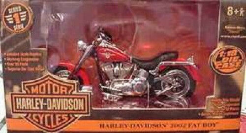 2002 Harley Davidson Fatboy Red 1 18 Ertl American Muscle Muscle Muscle 33169 be139e