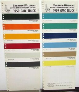 Details About 1959 Gmc Truck Paint Chip Color Samples Leaflets Sherwin Williams