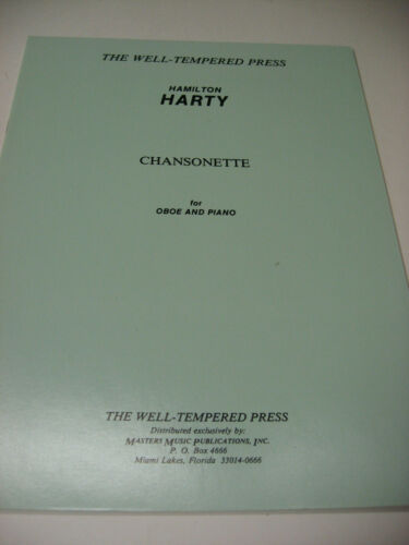 Hamilton Harty Chansonette for Oboe /& Piano Sheet Music Book Well Tempered Press
