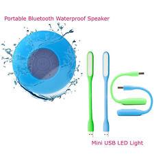 *Combo Offer* Portable Bluetooth Waterproof Speaker +Flexible Mini USB LED Light