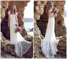 2017 A Line Lace Wedding Dresses Sexy Beach Boho Bridal Gowns