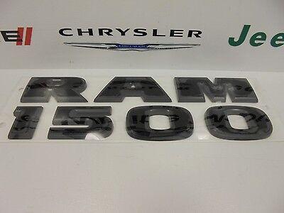 "15-16 Dodge Ram 1500 New /""Ram 1500/"" Flat Black Emblem Nameplate Set of 2 Mopar"