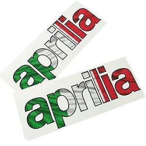 APRILIA-drapeau-italien-texte-Decalques-Stickers-graphique-MOTO-2-pieces
