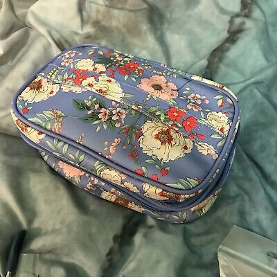 Fabfitfun Yumi Kim Makeup Train Case In Periwinkle Floral