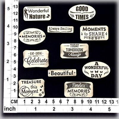 Cardmaking Chipboard Embellishments for Scrapbooking Scrapwords 111208b