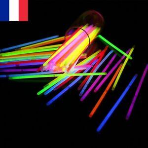 Lot de 20X Bâtons Lumineux Stick Bracelet Collier Fluorescent Fête Mariage
