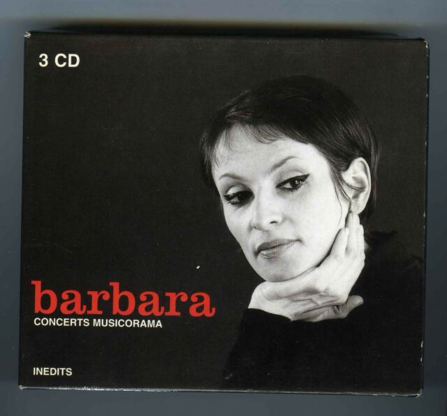 BARBARA BOX 3 CDs CONCERTS MUSICORAMA (OLYMPIA 4 FEVRIER 1969)