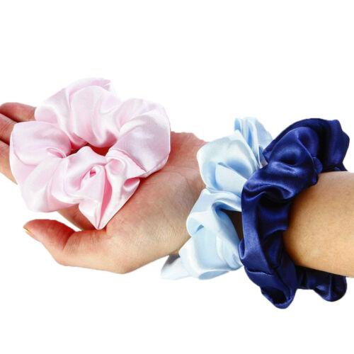 12Pcs//Set Hair Scrunchies Satin Silk Elastic Rubber Bands Scrunchy  Ties Ropes
