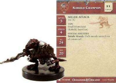 Blood War Series - HARD TO FIND with CARD!! KOBOLD MONK  #37 D/&D Miniature