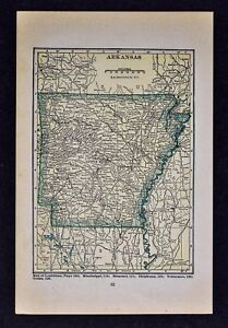 Details about 1927 Hammond Map - Arkansas - Little Rock Hot Springs  Fayetteville Texarkana AR