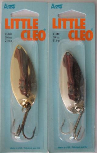 2 PKS Acme Tackle Little Cleo 3//4 Oz Nickel /& Or