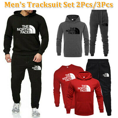 Men Full Tracksuit Set Sportwear Hoodie T-shirt Pants 3pcs Jogging Suit Trackies