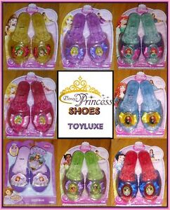 Disney-Princess-SHOES-Dress-Up-Fashion-Costume-Play-Toy-Slipper-Foot-Wear-NEW