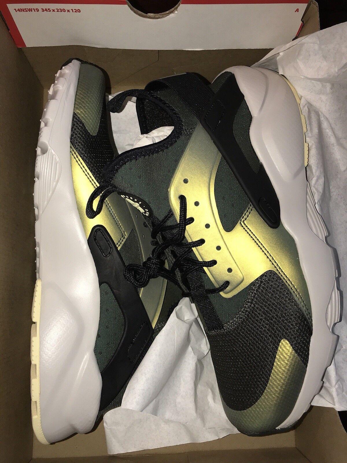 Nike air huarache autentico correre ultra se sequoia blk e osso 875841size 10