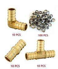 130 Pcs 12 Pex Crimp Fittings Ss Cinch Clamp Certified Lead Free Brass