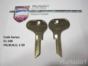 FT43 Lamborghini Contach 1987 /& earlier Vintage Lancia ignition Key Blank