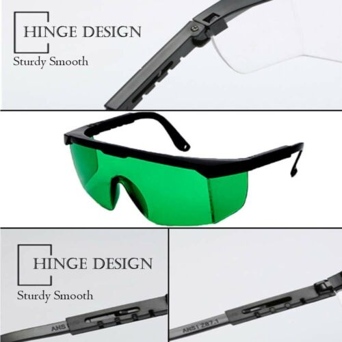 2PC Protective Lazer Beam Goggles Laser Safety Glasses for 200-450nm//800-2000nm