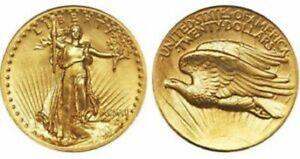 2-Mini-1907-St-Gaudens-Double-Eagle-1-2-Gram-Gold-Coins-Bullion-Gold-Coins