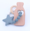 Safety Silicone Bead Star shape Teether Chew Baby wood molar stick toy Bracelet