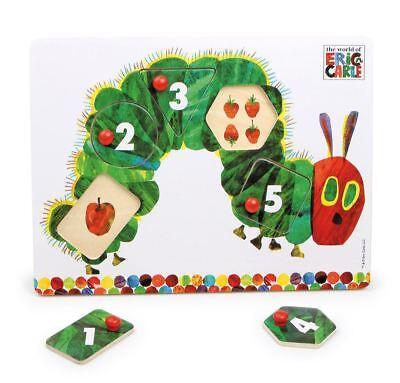 Rainbow Designs La Molto Affamati Caterpillar In Legno Peg Puzzle Bambino/baby Bn-mostra Il Titolo Originale