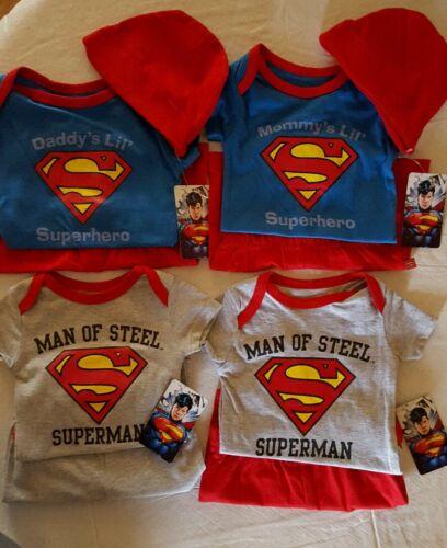 "INFANT BOY /""SUPERMAN/"" 2PC SHORTS OR PANTS SET  3PC PANTS SET SIZES 0//3--6//9 NWT"