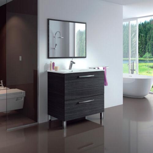 Baltic Bathroom Vanity Basin Unit Grey Ash Waterproof Veneer SINK EXCLUDED