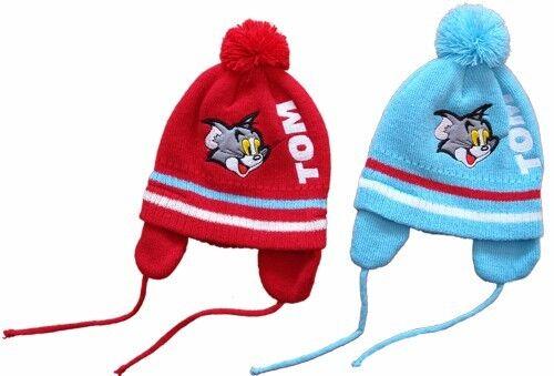 Tom et Jerry casquette bébé 0-3 mois Hiver Casquette Bonnet erstling 56 62 babymütze