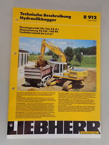 Data Sheet / Technical Description Liebherr Hydraulic Excavators R 912 From 01/