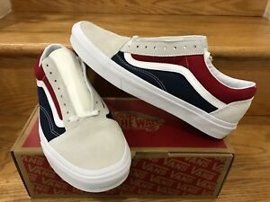 1bd7b81a3c0b0b Vans Old Skool Retro Block Color Beige Tan Blue Red Yacht Club USA ...
